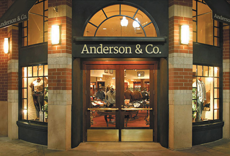 Exterior of Anderson & Co. store